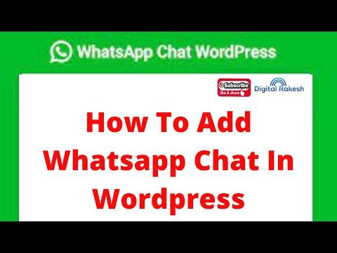 How to add whatsapp chat in wordpress