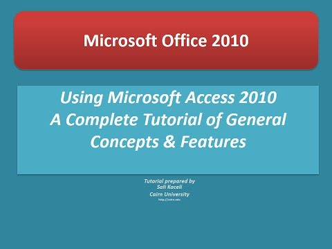 Access 2010 Tutorial: A Comprehensive Guide to Access - Access ...