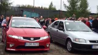 preview picture of video 'Mega zlot Tarnów 2013 Honda - wyścig'