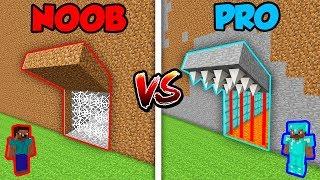 Minecraft NOOB vs. PRO: SECRET TRAP DEFENSE in Minecraft! (Animation)