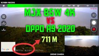 MJX B5W 4K - FPV MAX RANGE TEST (OPPO A9 2020)