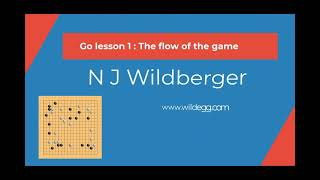 Go Lesson 1: The flow of the game | Playing Go | N J Wildberger