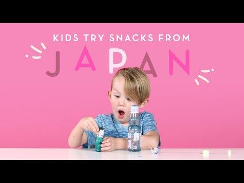 Kids Try Snacks from Japan | Kids Try | HiHo Kids