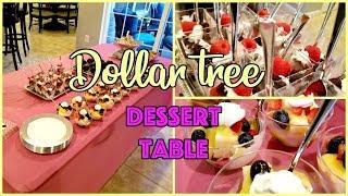 DOLLAR TREE DESSERT TABLE
