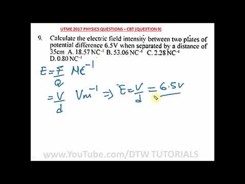 How to find the Electric Field Intensity (JAMB Solved Example)