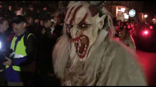 preview picture of video 'Goldberg Teufeln bei den Carnuntum Perchten 2012'