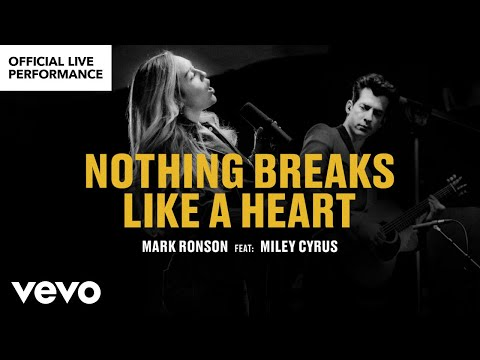 """Mark Ronson ft. Miley Cyrus - """"Nothing Breaks Like a Heart"""" Official Performance 