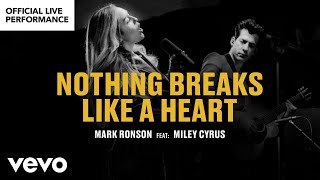 "Mark Ronson Ft. Miley Cyrus   ""Nothing Breaks Like A Heart"" Official Performance 