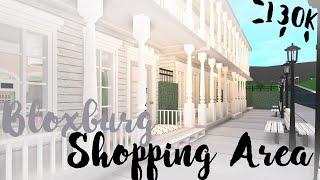Bloxburg Mini Shopping Area Speed Build! (Roblox)