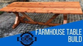 DIY Redwood Farmhouse Table Build