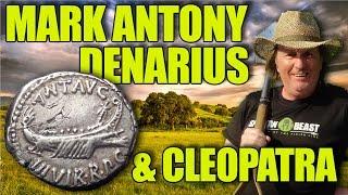 Beauty! Silver Denarius of Mark Antony dated 32BC (Ep260)