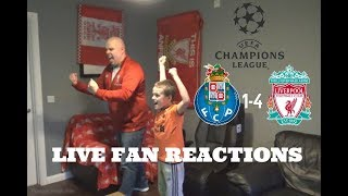 FC Porto 1-4 Liverpool , Champions League Q-Final 2nd Leg, LIVE FAN Reactions!