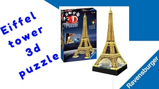 Eiffel Tower 3D PUZZLE  Ravensburger build step by step