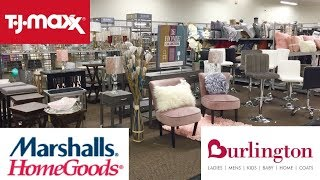 BURLINGTON TJ MAXX MARSHALLS HOME GOODS SPRING DECOR FURNITURE SHOP WITH ME SHOPPING WALK THROUGH