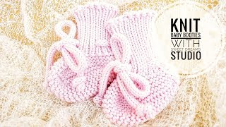 KNIT SOFT BABY BOOTIES / SHOES Tutorial