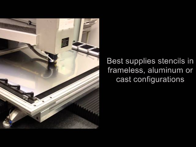 BEST manufactures and designs SMT stencils-both metal and plastic film type. This video demonstrates our metal stencil laser.