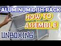 Aluminum Dish Rack  ✩  Easy to Assemble