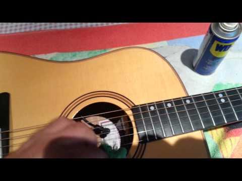 Limpieza de óxido en cuerdas de guitarra y protección de las mismas.