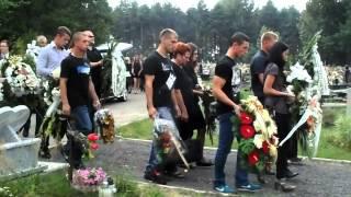 Pogrzeb 21-latka z Poręby [WIDEO. P.Drabek]