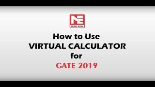 How to use VIRTUAL CALCULATOR for GATE 2019 (Tutorial)| MADE EASY