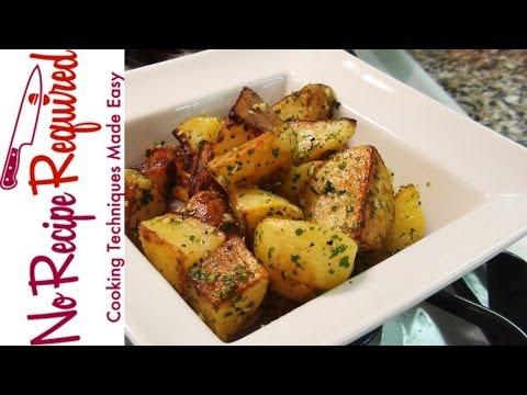 Video Roast Potatoes with Garlic & Parsley - NoRecipeRequired.com