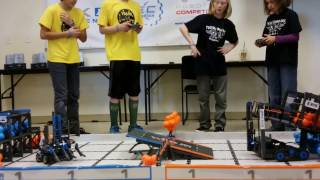 February 4, 2017 Tournament at Colorado Youth Outdoors – Qualifying Match with Berthoud Robotics Club's Team #1069H, Elite Machines
