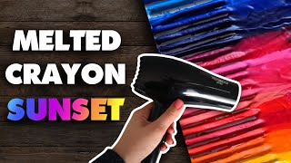 MELTING CRAYONS || Creating An Art Piece With Crayola Crayons!