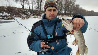 Зимняя ловля щуки на озере