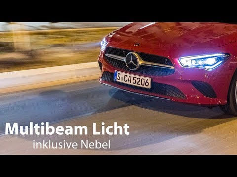 Mercedes-Benz CLA: Multibeam-LED-Scheinwerfer Test inklusive Nebel [4K] - Autophorie