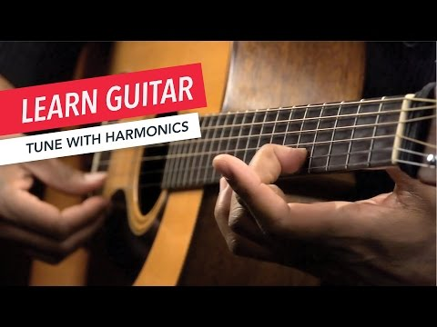 Beginner Guitar Lessons: How to Tune Your Guitar with Harmonics | Guitar | Lesson | Beginner