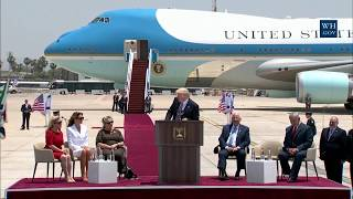 President Donald Trump Gives Remarks at Arrival Ceremony in Israel