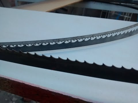 Como se solda una cinta para sierra cinta