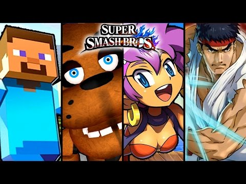 Super Smash Bros TOP 6 Fan-Made Trailers - Freddy Fazbear, Miku & More (Wii U)