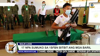 17 NPA sa Bukidnon sumuko