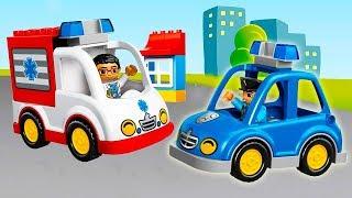 Мультики про машинки помощники в городе - Полицейская машина Скорая помощь и Эвакуатор