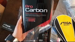 Stiga Pro Carbon - Unboxing and quick review
