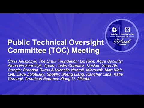 Image thumbnail for talk Public Technical Oversight Committee (TOC) Meeting