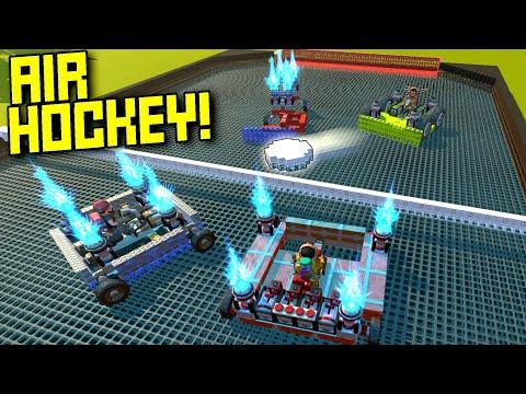 Vehicular Air Hockey on Low Friction Blocks!  - Scrap Mechanic Multiplayer Monday