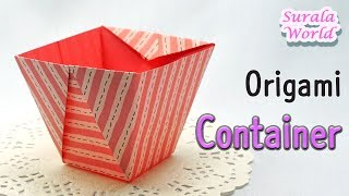 Origami :  Mangkuk, Piring, Kotak