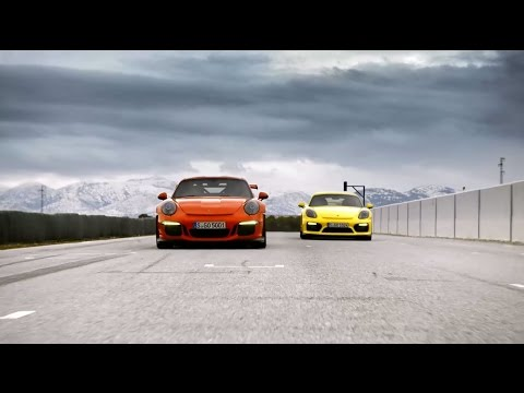 The new 911 GT3 RS and the Cayman GT4