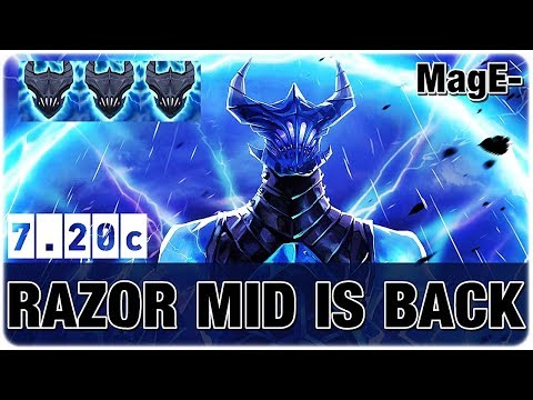 Razor Mid is Back New Patch 7.20 Imba AOE Skill by MagE-