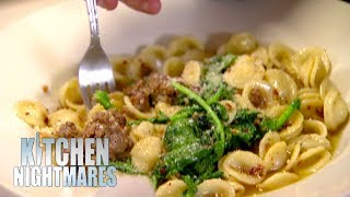 Owner Has To Drain Customer's Dish Of Oil | Kitchen Nightmares