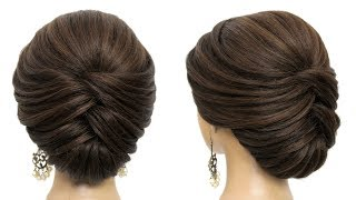 Bridal Updo Tutorial. Easy And Simple Hairstyle For Long Hair