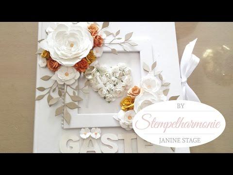 Mein Hochzeitsprojekt Teil 2   Gästebuch selbst gestalten / basteln   Guestbook diy