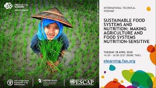 Nutrición y sistemas alimentarios sostenibles