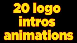 I will create 20  amazing logo intro animation for you in 24 hours