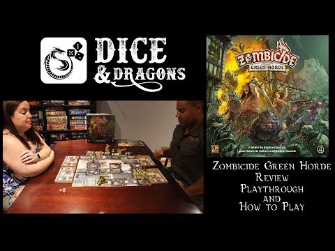 Dice and Dragons - Zombicide Green Horde Review, Playthrough and How to Play