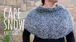 Tutorial Easy Knitting Cape Snow - Lanas y Ovillos in English
