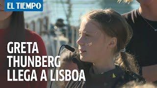 """Lisboa: """"Luchamos por cada ser vivo en la tierra"""" Greta Thunberg"""