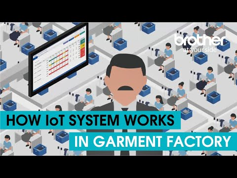 How IoT works in garment factory